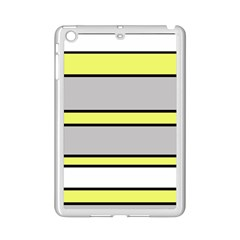 Yellow and gray lines iPad Mini 2 Enamel Coated Cases