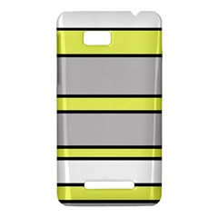 Yellow and gray lines HTC One SU T528W Hardshell Case