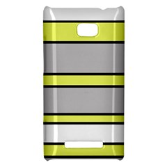 Yellow and gray lines HTC 8X