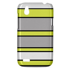 Yellow and gray lines HTC Desire V (T328W) Hardshell Case