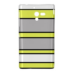 Yellow and gray lines Sony Xperia ZL (L35H)