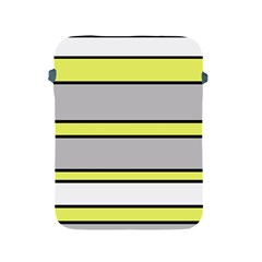 Yellow and gray lines Apple iPad 2/3/4 Protective Soft Cases