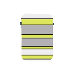 Yellow and gray lines Apple iPad Mini Protective Soft Cases