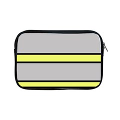 Yellow and gray lines Apple iPad Mini Zipper Cases