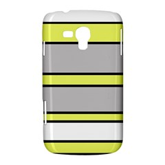 Yellow and gray lines Samsung Galaxy Duos I8262 Hardshell Case