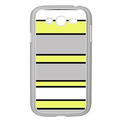 Yellow and gray lines Samsung Galaxy Grand DUOS I9082 Case (White)