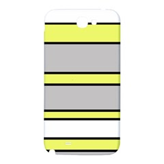 Yellow and gray lines Samsung Note 2 N7100 Hardshell Back Case