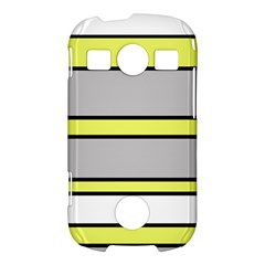 Yellow and gray lines Samsung Galaxy S7710 Xcover 2 Hardshell Case