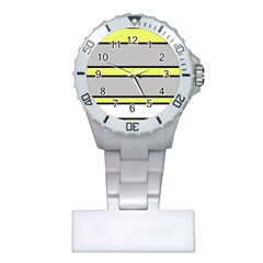 Yellow and gray lines Plastic Nurses Watch