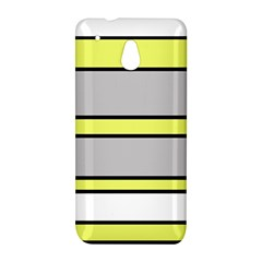 Yellow and gray lines HTC One Mini (601e) M4 Hardshell Case