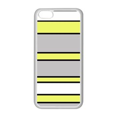 Yellow and gray lines Apple iPhone 5C Seamless Case (White)