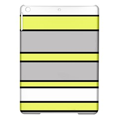 Yellow and gray lines iPad Air Hardshell Cases
