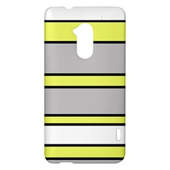 Yellow and gray lines HTC One Max (T6) Hardshell Case