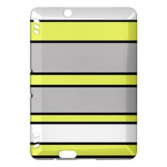 Yellow and gray lines Kindle Fire HDX Hardshell Case