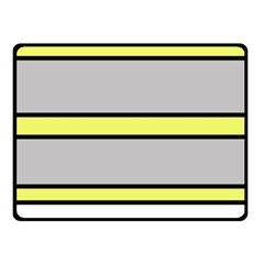 Yellow and gray lines Double Sided Fleece Blanket (Small)