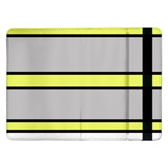 Yellow and gray lines Samsung Galaxy Tab Pro 12.2  Flip Case