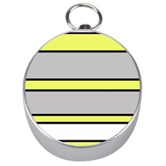 Yellow and gray lines Silver Compasses