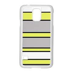 Yellow and gray lines Samsung Galaxy S5 Case (White)