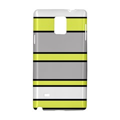 Yellow And Gray Lines Samsung Galaxy Note 4 Hardshell Case