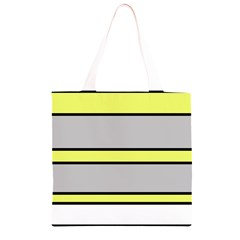 Yellow and gray lines Grocery Light Tote Bag