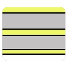 Yellow and gray lines Double Sided Flano Blanket (Small)