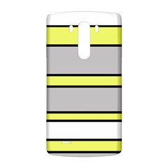 Yellow and gray lines LG G3 Back Case