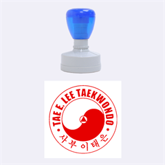 TaeELeeStamp-red-medium Medium Rubber Stamp (Round)