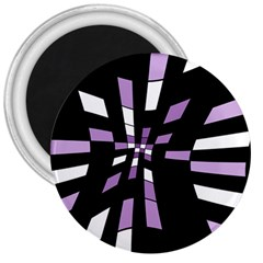 Purple abstraction 3  Magnets
