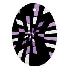 Purple abstraction Ornament (Oval)