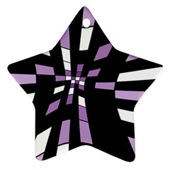 Purple abstraction Ornament (Star)
