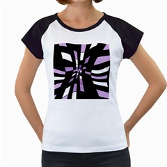 Purple abstraction Women s Cap Sleeve T