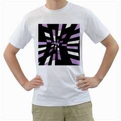Purple abstraction Men s T-Shirt (White) (Two Sided)