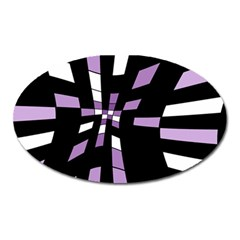 Purple abstraction Oval Magnet