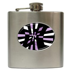 Purple abstraction Hip Flask (6 oz)