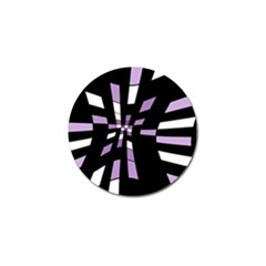 Purple abstraction Golf Ball Marker