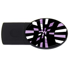 Purple abstraction USB Flash Drive Oval (1 GB)