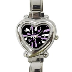 Purple abstraction Heart Italian Charm Watch