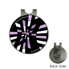 Purple abstraction Hat Clips with Golf Markers