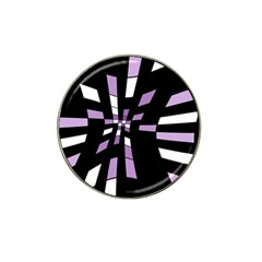 Purple abstraction Hat Clip Ball Marker (4 pack)