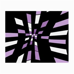 Purple abstraction Small Glasses Cloth