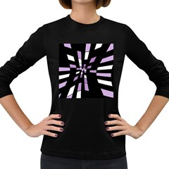 Purple abstraction Women s Long Sleeve Dark T-Shirts