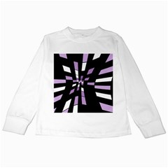 Purple abstraction Kids Long Sleeve T-Shirts