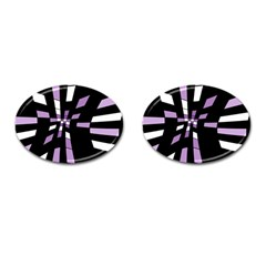 Purple abstraction Cufflinks (Oval)