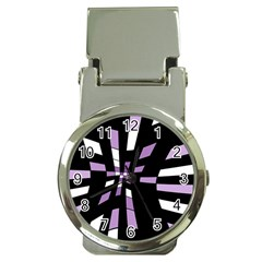 Purple abstraction Money Clip Watches