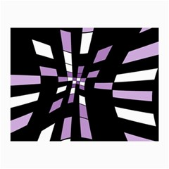Purple abstraction Collage Prints