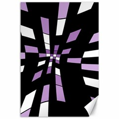 Purple abstraction Canvas 12  x 18