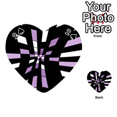 Purple abstraction Playing Cards 54 (Heart)