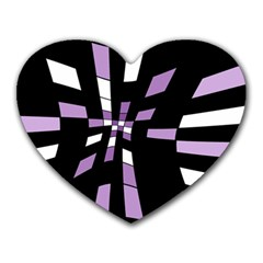 Purple abstraction Heart Mousepads