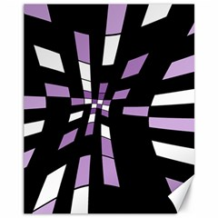 Purple abstraction Canvas 11  x 14
