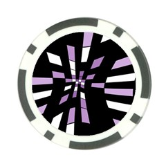 Purple Abstraction Poker Chip Card Guards